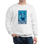 Obey the Russian Blue! Retro Cat Sweatshirt
