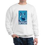 Obey the Russian Blue! Retro Cat Sweatshirt