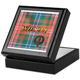 Wilson Tartan & Badge Keepsake Box