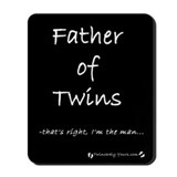 I'm the Man - Father of Twins Mousepad