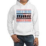 HOME OF THE FREE BECAUSE OF THE BRAVE Jumper Hoody