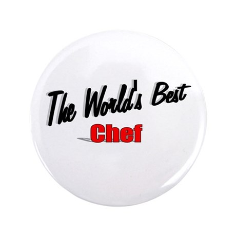 """The World's Best Chef"" 3.5"" Button (100 pack)"