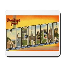 Greetings from Michigan Mousepad