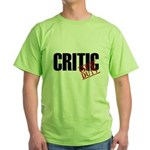 Off Duty Critic Green T-Shirt