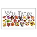 Will Trade for Daylilies Rectangle Sticker