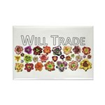 Will Trade for Daylilies Rectangle Magnet (100 pac
