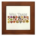 Will Trade for Daylilies Framed Tile