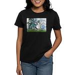 Lilies (#1) - Corgi (Bl.M) Women's Dark T-Shirt