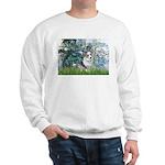 Lilies (#1) - Corgi (Bl.M) Sweatshirt