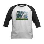 Lilies (#1) - Corgi (Bl.M) Kids Baseball Jersey