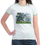 Lilies (#1) - Corgi (Bl.M) Jr. Ringer T-Shirt
