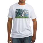 Lilies (#1) - Corgi (Bl.M) Fitted T-Shirt