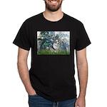Lilies (#1) - Corgi (Bl.M) Dark T-Shirt