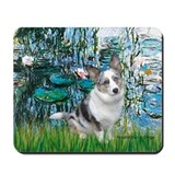 Lilies (#1) - Corgi (Bl.M) Mousepad