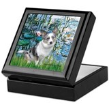 Lilies (#1) - Corgi (Bl.M) Keepsake Box