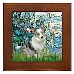 Lilies (#1) - Corgi (Bl.M) Framed Tile