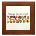 Want to trade daylilies? Framed Tile
