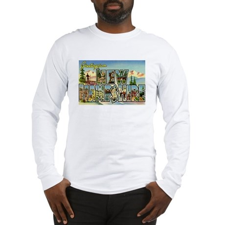 Greetings from New Hampshire Long Sleeve T-Shirt