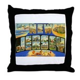 Greetings from New Jersey Throw Pillow