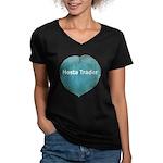 Hosta Trader Women's V-Neck Dark T-Shirt