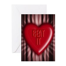 beat it Greeting Cards (Pk of 10)