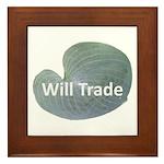 Will trade for hostas Framed Tile