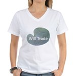Will trade for hostas Women's V-Neck T-Shirt