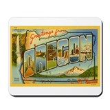 Greetings from Oregon Mousepad