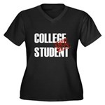 Off Duty College Student Women's Plus Size V-Neck