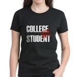 Off Duty College Student Women's Dark T-Shirt