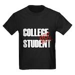 Off Duty College Student Kids Dark T-Shirt