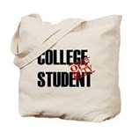 Off Duty College Student Tote Bag