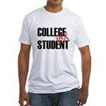 Off Duty College Student Fitted T-Shirt