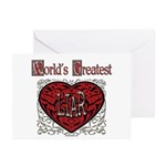 World's Best Liar Greeting Cards (Pk of 10)