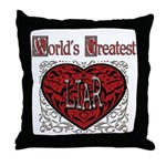World's Best Liar Throw Pillow