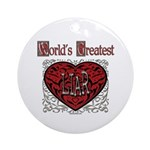 World's Best Liar Ornament (Round)