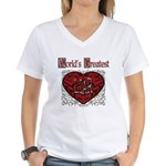 World's Best Liar Women's V-Neck T-Shirt