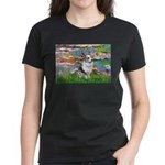 Lilies (#2) - Corgi (Bl.M) Women's Dark T-Shirt
