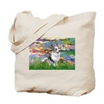 Lilies (#2) - Corgi (Bl.M) Tote Bag