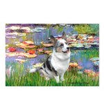 Lilies (#2) - Corgi (Bl.M) Postcards (Package of 8