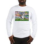 Lilies (#2) - Corgi (Bl.M) Long Sleeve T-Shirt