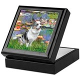 Lilies (#2) - Corgi (Bl.M) Keepsake Box
