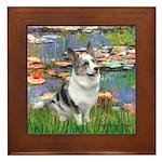 Lilies (#2) - Corgi (Bl.M) Framed Tile