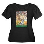 Spring - Corgi (Bl.M) Women's Plus Size Scoop Neck