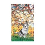 Spring - Corgi (Bl.M) Sticker (Rectangle)