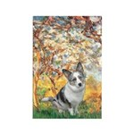Spring - Corgi (Bl.M) Rectangle Magnet (10 pack)