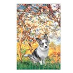 Spring - Corgi (Bl.M) Postcards (Package of 8)