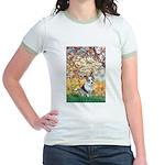 Spring - Corgi (Bl.M) Jr. Ringer T-Shirt