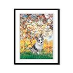 Spring - Corgi (Bl.M) Framed Panel Print