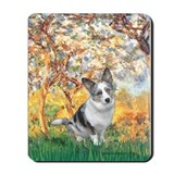 Spring - Corgi (Bl.M) Mousepad